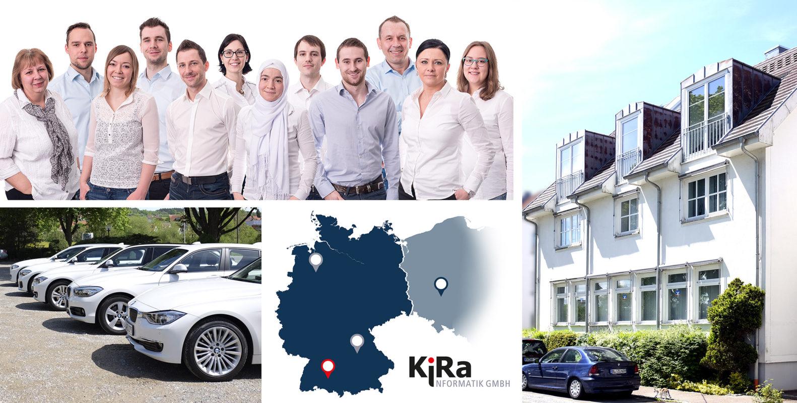 KiRa Unternehmensdarstellung, Mitarbeiter, Fuhrpark, Gebäude und Landkarte