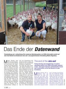 Zeitungsschnitt Putenhof Gut Neuhof & Softwarelösung FoodOffice / FoodWorks & FoodLabel