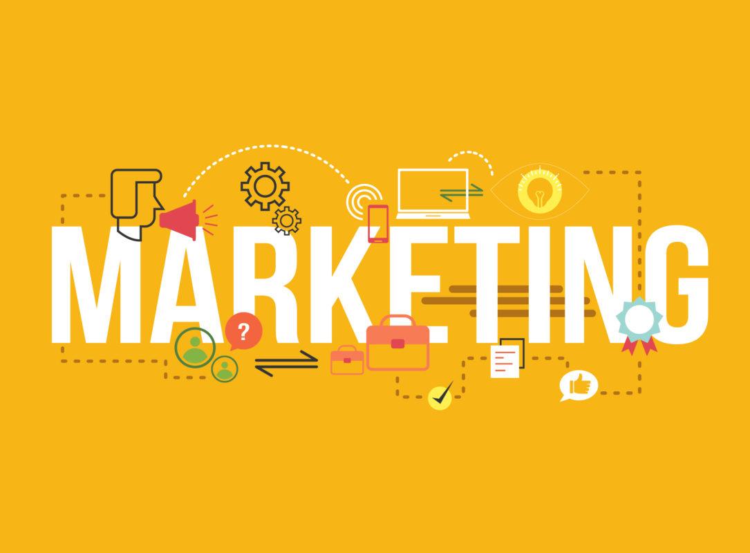 Online Marketing Zeichnung