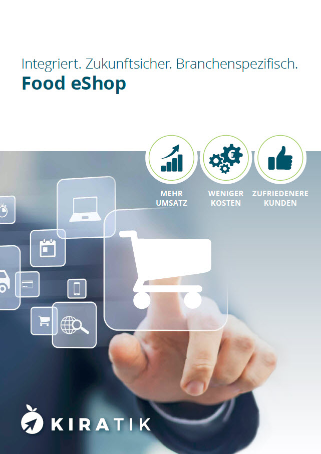 Broschüre Food eShop