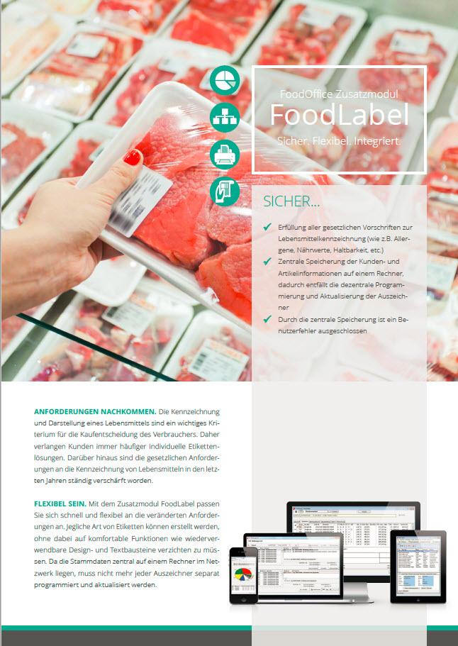 Broschüre Foodlabel